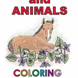Wild Foods and Animals Coloring Book cover