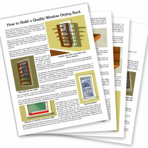 How to Build a Quality Drying Rack 4 page spread
